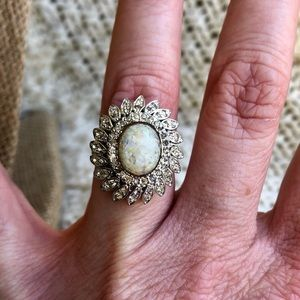 Jewelry - Panetta Sterling Silver Shank Fire Opal Ring